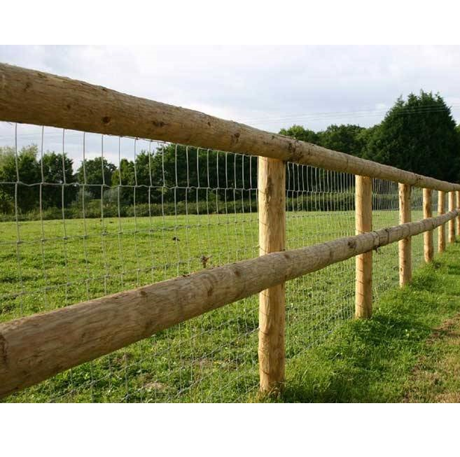 Post and rail round stake half rails hartwells